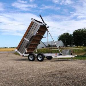 5x10 2x3500 lbs en aluminium Remorque dompeur hydraulique