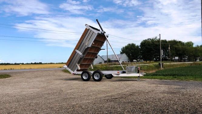 5×10 2×3500 lbs en aluminium Remorque dompeur hydraulique