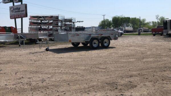 66x120 2X2000 lbs Remorque Laroche galvanisée GAT66120