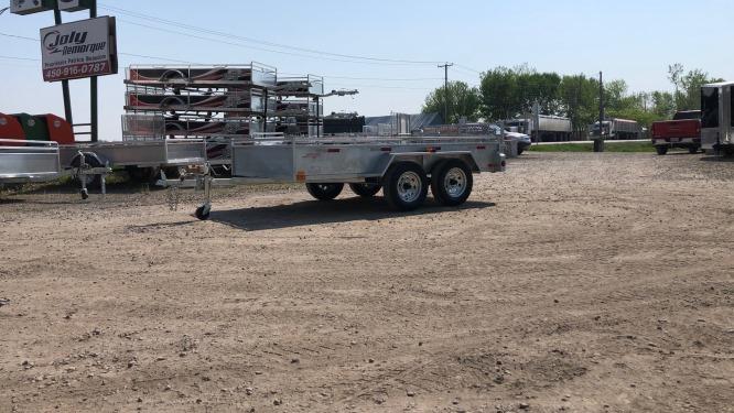 66×120 2X2000 lbs Remorque Laroche galvanisée GAT66120