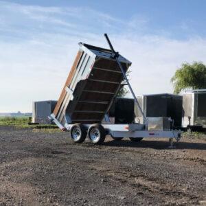 6X10 2X5200 lbs en aluminium Remorque dompeur hydraulique