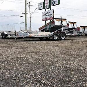 80x16 2x3500 lbs Rampes Remorque Laroche plateforme en acier galvanisé