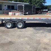 Plateforme 102x18 2x5200 lbs deckover en aluminium flat bed