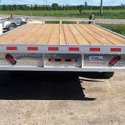 Plateforme 102x18 2x5200 lbs en aluminium deckover flat bed