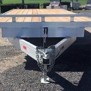 Plateforme 102x18 en 2x5200 lbs deckover flat bed en aluminium
