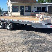 Plateforme 102x18 en aluminium deckover 2x5200 lbs flat bed