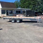 Plateforme 102x18 en aluminium deckover flat bed 2x5200 lbs