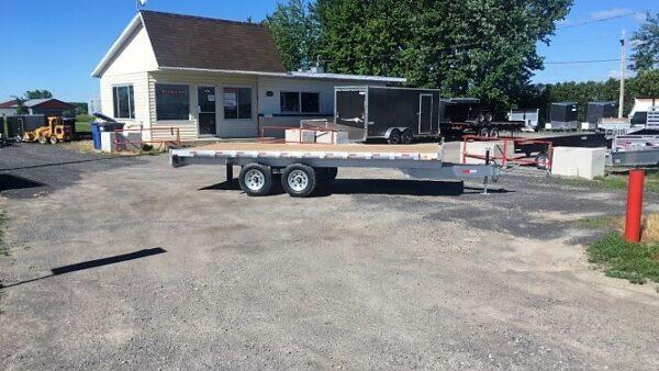 101x18 2x5200 lbs en aluminium plateforme deckover