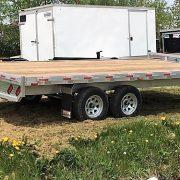 Remorque 102x16 2x3500 lbs plateforme deck over en aluminium