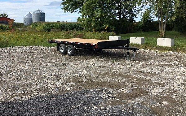 Remorque 102x16 Laroche 2x3500 lbs freins