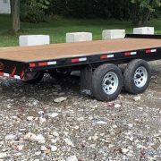 Remorque 102x16 plate-forme Laroche 2x3500 lbs freins