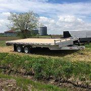 Remorque 102x16 plateforme deck over 2x3500 lbs en aluminium