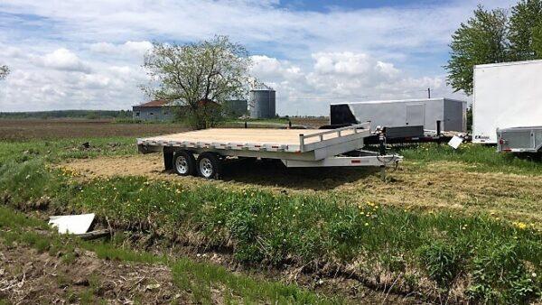 101x16 2x3500 lbs en aluminium Remorque plateforme Deckover