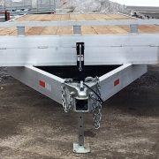 Remorque 102x20 2x5200 lbs en aluminium plateforme deck over