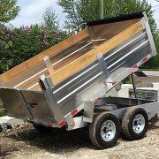 Remorque 6x10 2x5200 lbs dompeur en aluminium