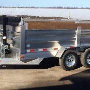 Remorque 6x12 2x5200 lbs en aluminium dompeur hydraulique