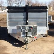 Remorque 6x12 2x5200 lbs modèle dompeur hydraulique en aluminium