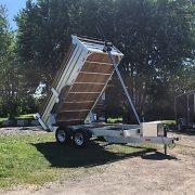 Remorque 6x12 dompeur hydraulique en aluminium 2x5200 lbs
