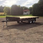 Remorque LA26DE Laroche Flat bed deck over 102x16