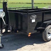 Remorque Laroche 2x2000 lbs dompeur à manivelle côtés 21 po longueur 8'