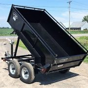 Remorque Laroche 8' côtés 21 po dompeur à manivelle 2x2000 lbs