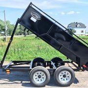 Remorque Laroche 8' dompeur à manivelle 2x2000 lbs côtés 21 po