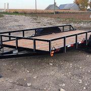 Remorque Laroche 80x16 2x3500 lbs avec rampes Laroche