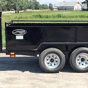 Remorque dompeur à manivelle Laroche 2x2000 lbs côtés 21 po longueur 8'