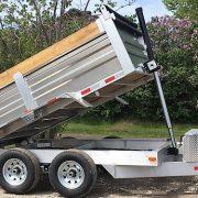 Remorque dompeur 6x10 2x5200 lbs en aluminium