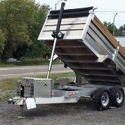 Remorque dompeur en aluminium 5x10 2x3500 lbs
