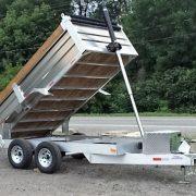 Remorque dompeur en aluminium 6x12 2x5200 lbs