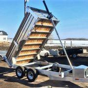 Remorque dompeur hydrailique 6x12 en aluminium 2x5200 lbs