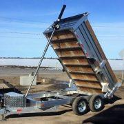 Remorque dompeur hydrailique en aluminium 6x12 2x5200 lbs
