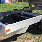 Remorque dompeur hydraulique 6x12 en aluminium 2x5200 lbs