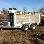Remorque dompeur hydraulique en aluminium 6x10 2x5200 lbs