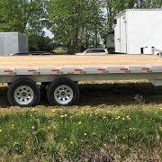 Remorque en aluminium 102x16 2x3500 lbs plateforme deck over