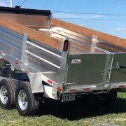 Remorque en aluminium 6x12 dompeur 2x5200 lbs hydraulique