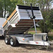 Remorque en aluminium dompeur 2x5200 lbs 6x10