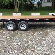 Remorque plate-forme 102x16 Laroche 2x3500 lbs freins