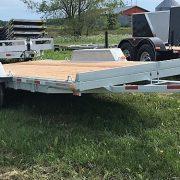 Remorque plateforme Laroche 80x16 2x3500 lbs en acier galvanisé