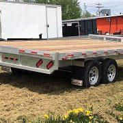 Remorque plateforme deck over 102x16 2x3500 lbs en aluminium