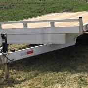 Remorque plateforme deck over 2x3500 lbs 101x16 en aluminium