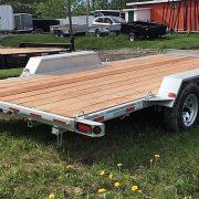 Remorque plateforme en acier galvanisé 80x16 2x3500 lbs Laroche