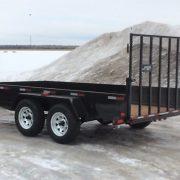 Remorque 2x3500 lbs 6x12 LA19ADE Laroche avec porte rampe