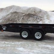 Remorque 2x3500 lbs 6x12 Laroche LA19ADE avec porte rampe