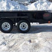 Remorque 5x10 freins Laroche LA13DE 2x3500 lbs côtés 16 po