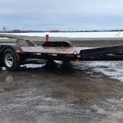 Remorque 80x16 rampes Laroche 2x3500 lbs freins LA20ADE
