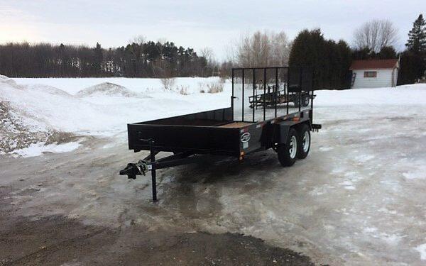 Remorque Laroche 6x12 2x3500 lbs LA19ADE avec porte rampe
