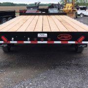 Remorque 102x20 2x5200 lbs rail pour rouleau Laroche freins flatbed deck over