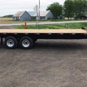 Remorque 102x20 2x5200 lbs rail pour rouleau freins Laroche flatbed deck over